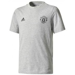 Vêtements Garçon T-shirts manches courtes adidas Originals TEE SHIRT JUNIOR MANCHESTER UNITED Gris