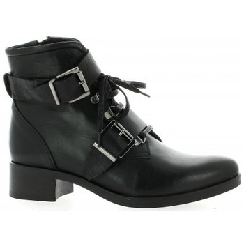 Chaussures Femme Bottines Pao Boots cuir Noir