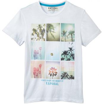 Vêtements Garçon T-shirts & Polos Kaporal T-Shirt  Cemoi White (sp) Blanc