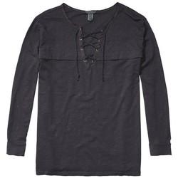 Vêtements Femme T-shirts manches longues Scotch & Soda TOP 131218 Gris Foncé
