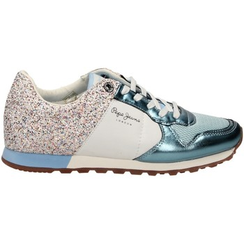 Chaussures Femme Baskets basses Pepe jeans VERONA W GLITTER blanc