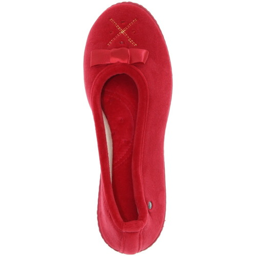 Chaussures Femme Chaussons Isotoner Chausson mules  ref_iso42210-rouge rouge