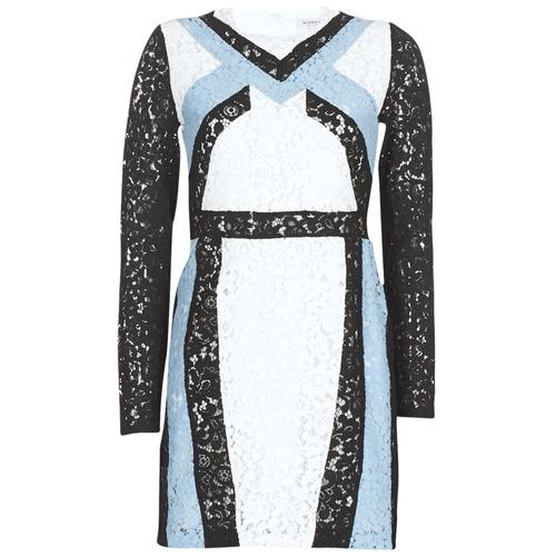 Morgan Rlixi Blanc Noir Bleu Livraison Gratuite Spartoo Vetements Robes Courtes Femme 51 00
