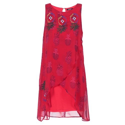 Vêtements Femme Robes courtes Desigual DORIJE Rouge
