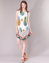 Vêtements Femme Robes courtes Desigual HOQLER Blanc