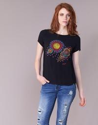 Vêtements Femme T-shirts manches courtes Desigual NAIKLE Noir