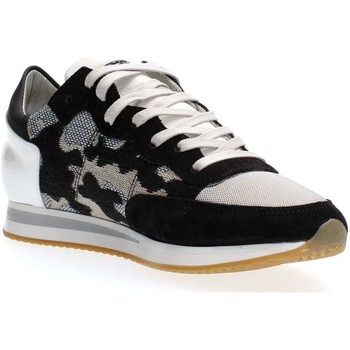 Chaussures Femme Baskets basses Philippe Model Paris TRLD CI01 TROPEZ SNEAKERS Femme WHITE BLACK WHITE BLACK