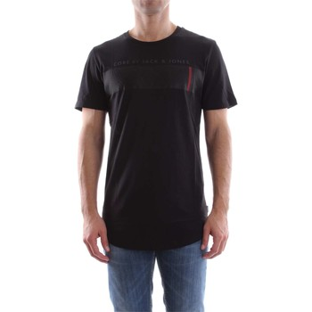 Vêtements Homme T-shirts manches courtes Jack & Jones 12119105 COMPACT T-SHIRT Homme BLACK BLACK