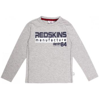 Vêtements Garçon T-shirts manches longues Redskins T-SHIRT  BENCAL GRIS (sp) Gris