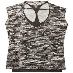 Vêtements Femme Tops / Blouses G-Star Raw Top  May Double Tig Tex Cam Cay Jersey Dark Heron(sp) Bronze