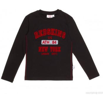Vêtements Garçon T-shirts manches longues Redskins T-SHIRT  BUCCAL NOIR (sp)