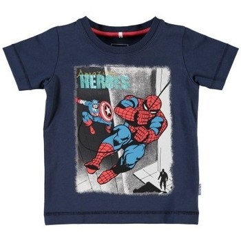 Vêtements Garçon T-shirts manches courtes Name It Kids T-shirt  Nitfolkeson Bleu Marine (sp)