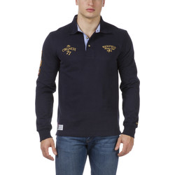Vêtements Homme Polos manches longues Ruckfield Polo The Crunch Col Cravate Bleu