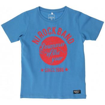 Vêtements Garçon T-shirts manches courtes Name It Kids T-Shirt Edrick Campanula (sp)