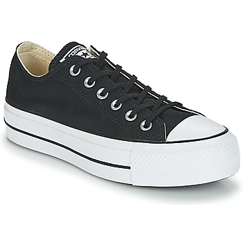 b4883cf521152 Chaussures Femme Baskets basses Converse CHUCK TAYLOR ALL STAR LIFT OX Noir