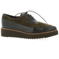 Chaussures Femme Derbies Pao Derby cuir velours Taupe