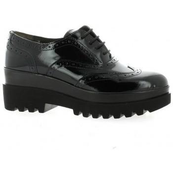 Chaussures Femme Derbies Pao Derby cuir vernis Noir