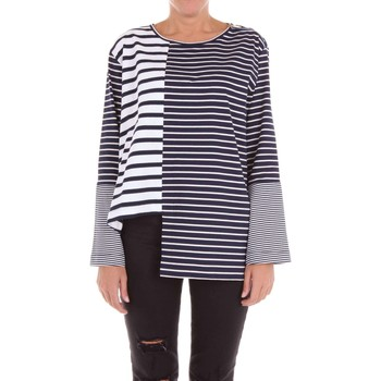 Vêtements Femme Pulls Stella Mc Cartney 450328SIW14 pull-over Femme Blanc et bleu Blanc et bleu