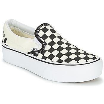 Chaussures Femme Slips on Vans SLIP-ON PLATFORM Noir / Blanc