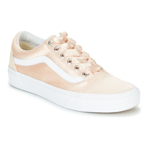 Chaussures Femme Baskets basses Vans OLD SKOOL Rose satin