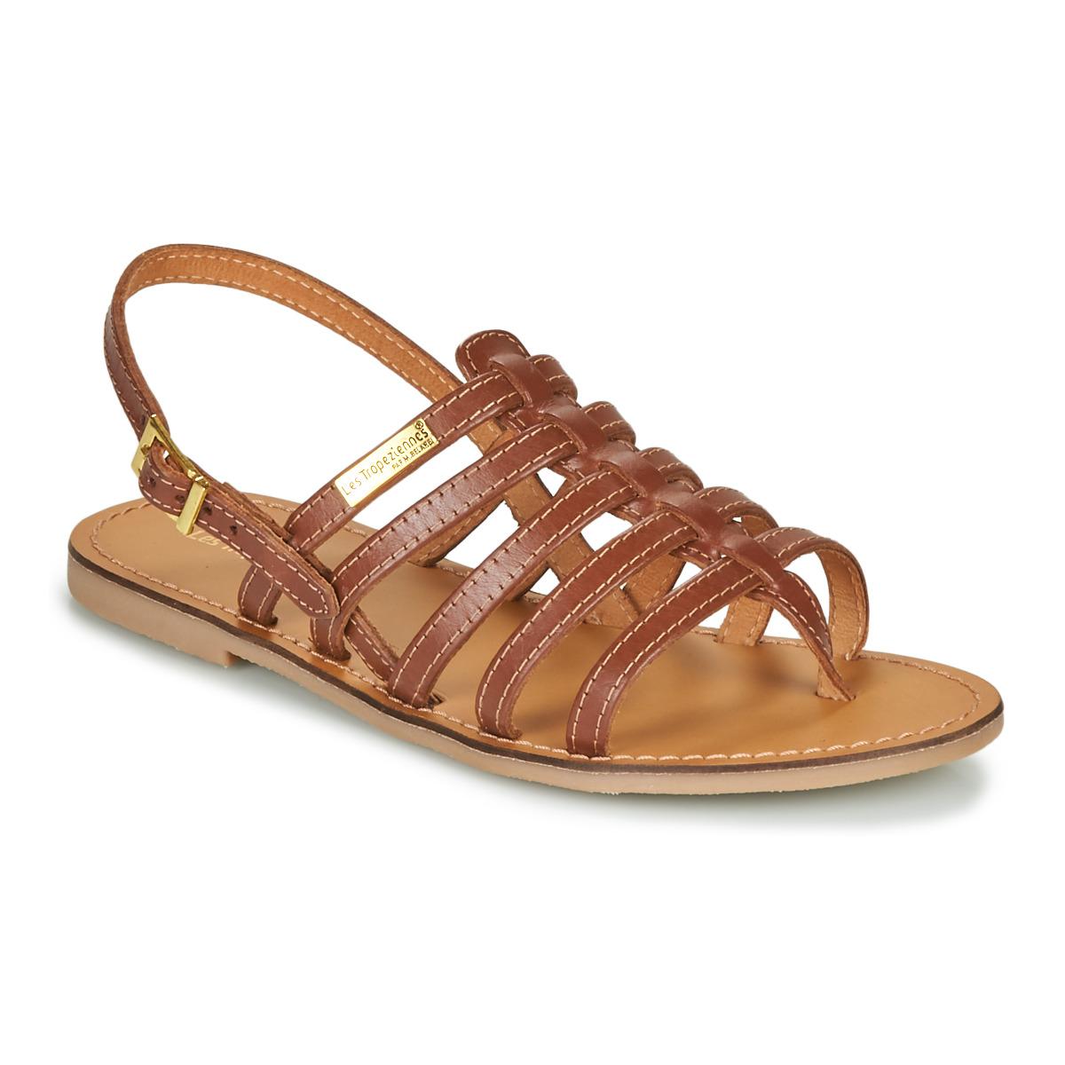 Les Tropéziennes par M Belarbi HERILO Marron - Livraison Gratuite avec  - Chaussures Sandale Femme