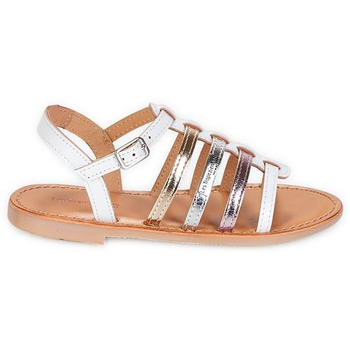 Les Chaussures Nu Par Fille Belarbi Blanc M pieds Mongue Et Tropéziennes Sandales LRj4A5