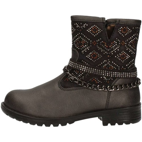 Chaussures Fille Low boots Asso 58113 Noir