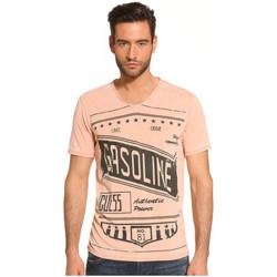 Vêtements Homme T-shirts manches courtes Guess T-Shirt  Homme ARTIFACTS rose Rose
