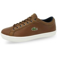 Chaussures Homme Baskets basses Lacoste CHAUSSURES HOMME STRAIGHTSET SP 317 marron