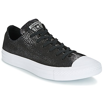 2e4eedf23efc40 Chaussures Femme Baskets basses Converse CHUCK TAYLOR ALL STAR OX TIPPED  METALLIC Noir