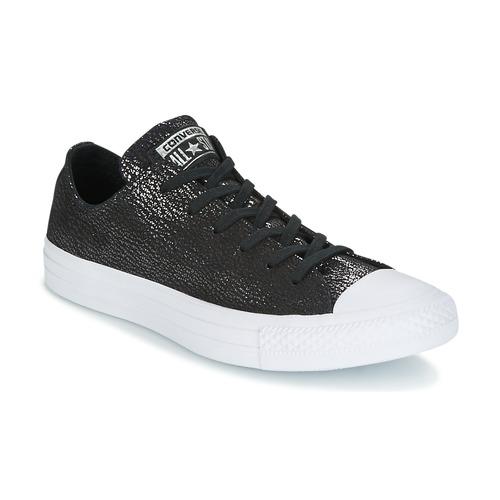 Chaussures Femme Baskets basses Converse CHUCK TAYLOR ALL STAR OX TIPPED METALLIC Noir