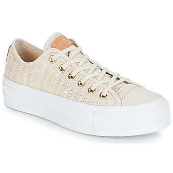 Chaussures Femme Baskets basses Converse CHUCK TAYLOR ALL STAR LIFT-OX Beige / Blanc
