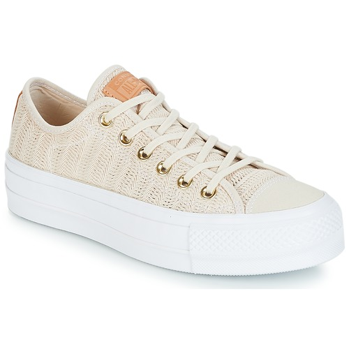 Converse CHUCK TAYLOR ALL STAR LIFT-OX Beige / Blanc
