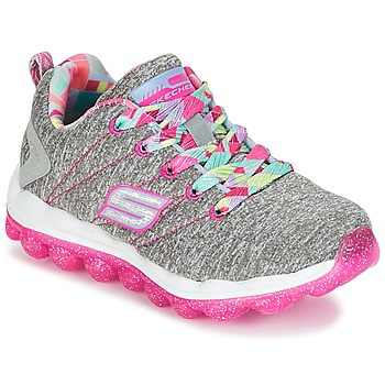Chaussures Fille Baskets basses Skechers SKECH-AIR Gris / Rose