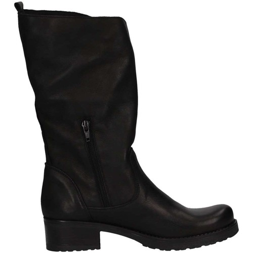 Chaussures Femme Bottes ville Bage Made In Italy 142 NERO PELLE Noir
