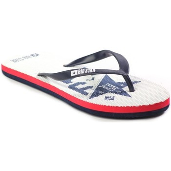 Chaussures Femme Tongs Big Star W274A517 Blanc-Noir-Rouge
