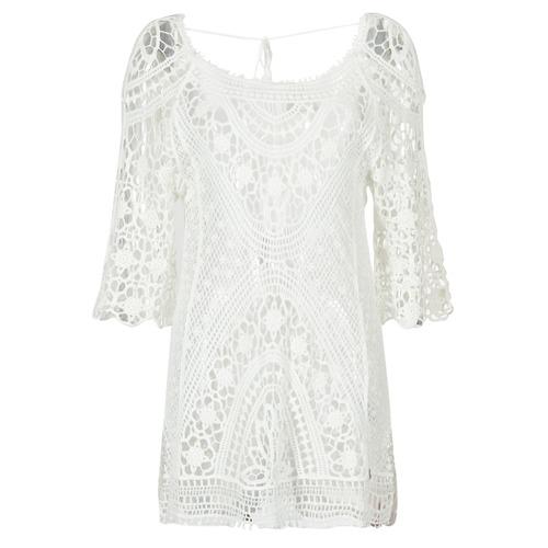Vêtements Femme Robes courtes Banana Moon MAGBY DREAMLAND Blanc