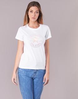 Vêtements Femme T-shirts manches courtes Converse CONVERSE CLEAR FOIL CHUCK PATCH CREW TEE Blanc