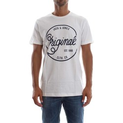 Vêtements Homme T-shirts manches courtes Jack & Jones 12122225 WELL T-SHIRT Homme CLOUD DANCER CLOUD DANCER