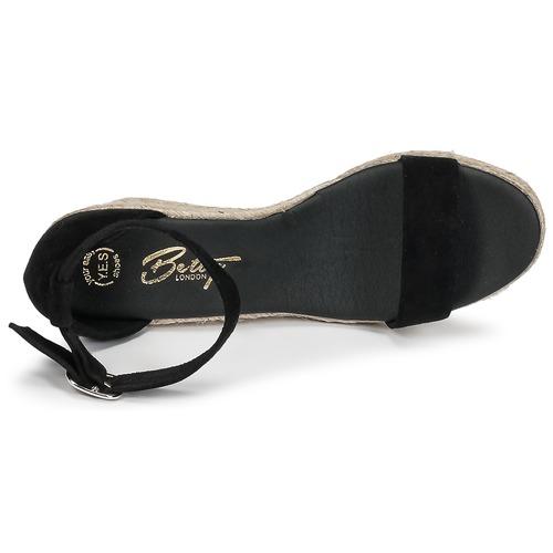 London Sandales Noir pieds Et Betty Nu Femme Indali 2WH9IED