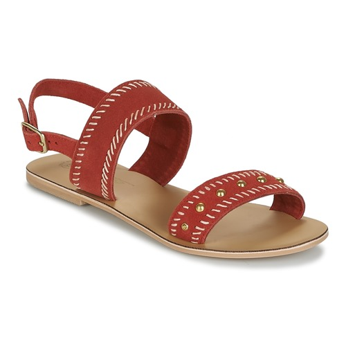 Chaussures Femme Sandales et Nu-pieds Betty London IKARI Rouge