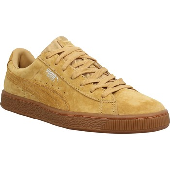 Chaussures Homme Baskets basses Puma Basket Classic Weatherproof velours Homme Ocre Ocre