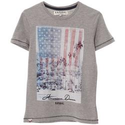 Vêtements Garçon T-shirts manches courtes Kaporal T-Shirt  CRAG Grey Melanged (sp) Gris