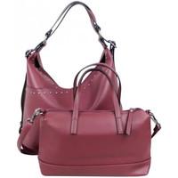 Sacs Femme Sacs porté main Fuchsia Sac à main + sac bandoulière déco rivets  Demars M Rouge