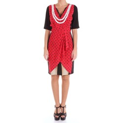 Vêtements Femme Robes courtes Moschino Couture 04440437 Robe Femme Rouge et noir Rouge et noir
