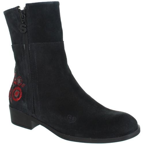 Chaussures Femme Bottes ville Desigual Bottines  ref_des41668-2000-noir Noir