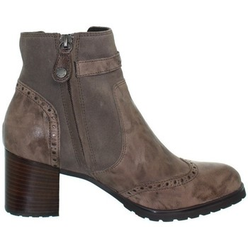 Chaussures Femme Bottines Geox Bottines  New Lise en cuir ref_geo41978-taupe Marron