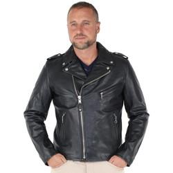 Vêtements Homme Blousons Schott Blouson Perfecto  en cuir ref_jaj41821-noir Noir