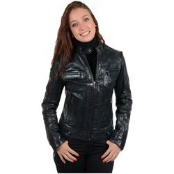 Vêtements Femme Blousons Daytona Blouson en cuir d'agneau ref_30996 Noir noir