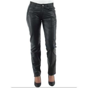 Vêtements Homme Pantalons 5 poches Giorgio Cuirs Pantalon Giorgio slim wody en cuir ref_gio33425-noir noir